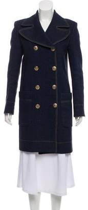 Sonia Rykiel Wool-Blend Double-Breasted Coat