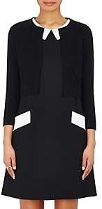 Lisa Perry Women's Cashmere Crop Cardigan Sweater-Black