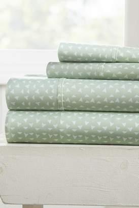 IENJOY HOME Our Elegant Urban Arrows Pattern 4-Piece Sheet Set - Jade - Queen