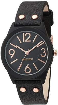 Nine West Women's NW/1932BKRG Matte Rubberized Bracelet Watch