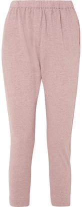 Bassike Organic Mélange Cotton-jersey Track Pants - Pink