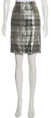 Dries Van Noten Metallic Pencil Skirt
