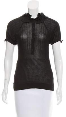 Anne Fontaine Tailored Ribbed Top