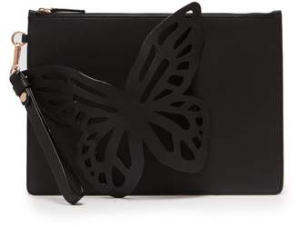 Sophia Webster Flossy Butterfly Leather Pouch - Womens - Black