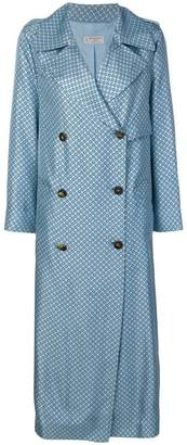 Alberto Biani dotted double breasted coat