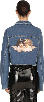 Fiorucci Berty Cotton Denim Jacket W/ Back Patch