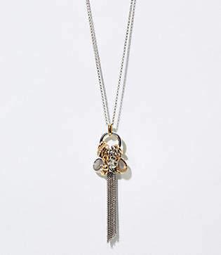 LOFT Charmed Tassel Pendant Necklace