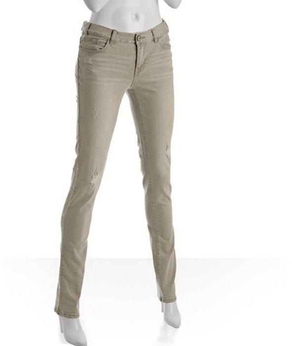 Les Halles granite distressed 'Straw Legging' jeans
