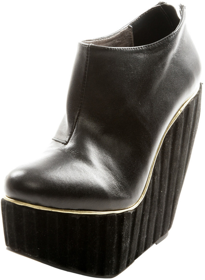 EllyClay Platform Wedge Ankle Boot