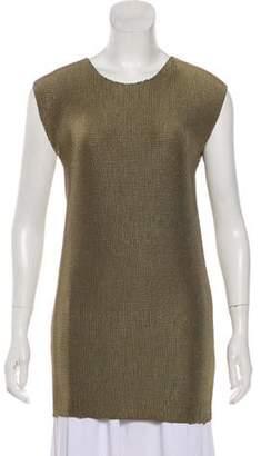 Barbara Casasola Textured Sleeveless Top Olive Textured Sleeveless Top