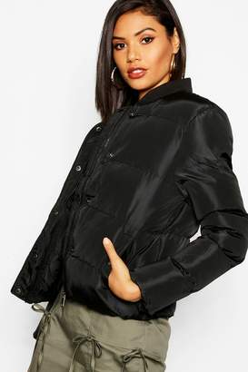 boohoo Quilted Bomber Jacket