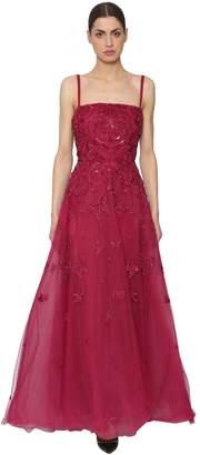 Elie Saab Embellished Tulle Gown