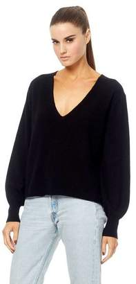 360 Cashmere Maddison Bell Sleeve Knit - Black / M