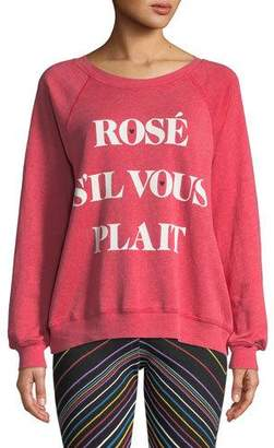 Wildfox Couture Rose Sommers Raglan Pullover Sweater