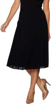 Du Jour Pleated Midi Skirt with Side Zip Closure