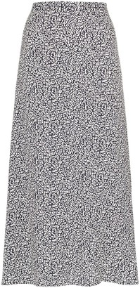 Reformation printed midi skirt