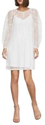 BCBGMAXAZRIA Striped Mesh Shift Dress