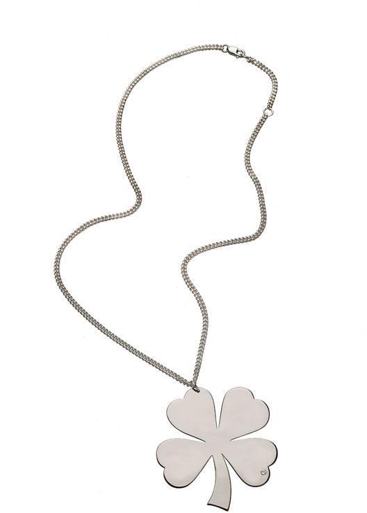 Jennifer Zeuner Large Clover Necklace in Silver