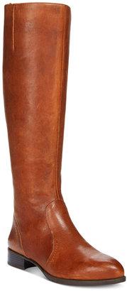 Nine West Nicolah Block-Heel Tall Boots $179 thestylecure.com