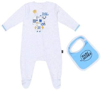 Little Marc Jacobs Cotton onesie and bib set