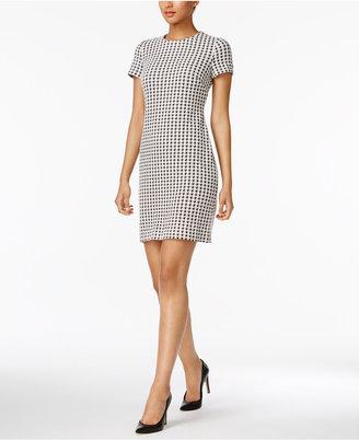 Calvin Klein Houndstooth Shift Dress, Regular & Petite Sizes $89.98 thestylecure.com