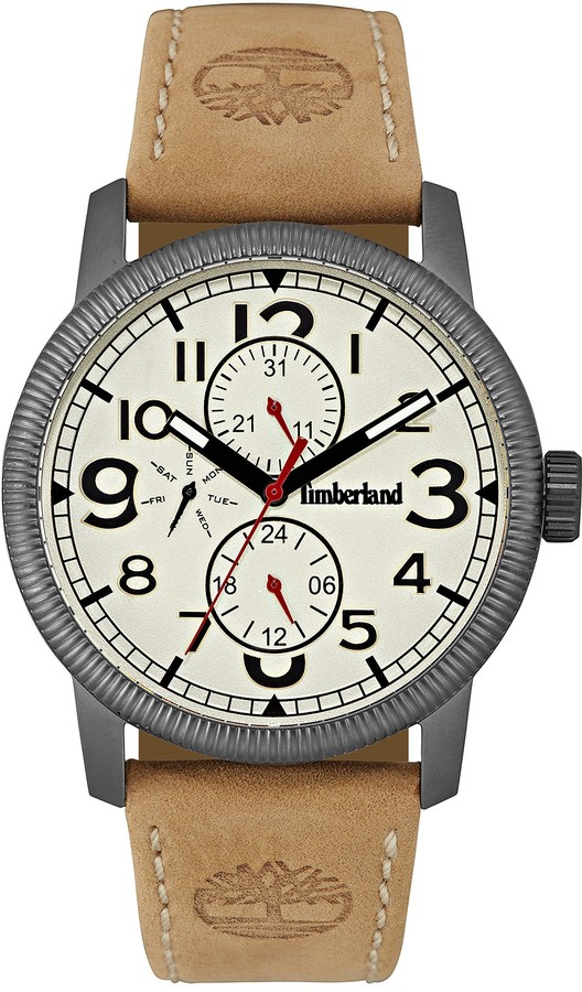 Timberland Timberland Men's Erving Leather Strap Watch