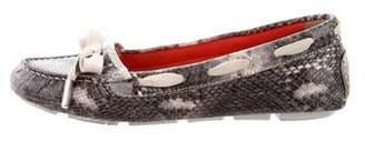 Aquatalia Embossed Leather Loafers