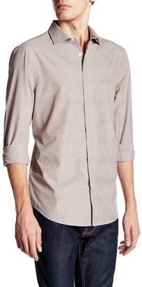 Perry Ellis Pinstripe Long Sleeve Regular Fit Shirt