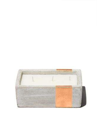 Paddywax Urban Concrete Rectangle Copper Bergamont & Mahogany Candle