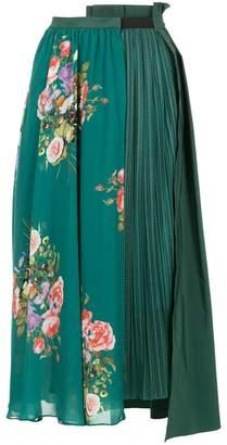 Aula floral print pleated skirt