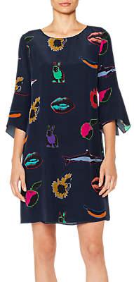 Paul Smith Artful Lives Pop Art Print Tunic Dress, Navy/Multi