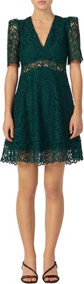 Sandro Hearty Lace Fit & Flare Cocktail Dress