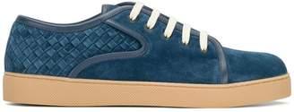 Bottega Veneta denim blue Intrecciato suede dodger sneaker