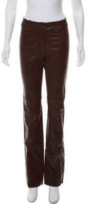 Plein Sud Jeans Mid-Rise Leather Pants Mid-Rise Leather Pants
