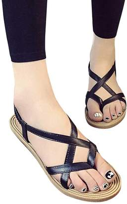 d7b865f39cf6 at Amazon Canada · PeepToe ANBOO Women Concise Strappy Flat Sandals Bandage  Peep-Toe Outdoor Beach Gladiator Shoes (