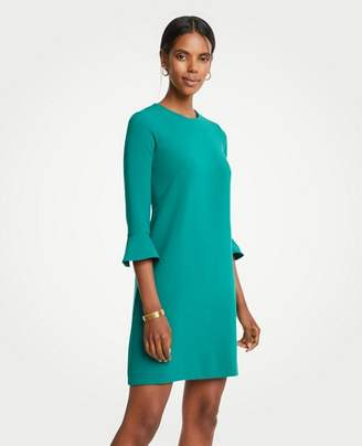 Ann Taylor Tall Doubleweave Fluted Sleeve Shift Dress