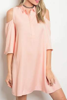Do & Be Peach Skater Dress