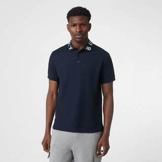 Burberry Logo Intarsia Cotton Piqué Polo Shirt