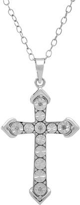 Diamore Diamond Accent Sterling Silver Cross Pendant Necklace