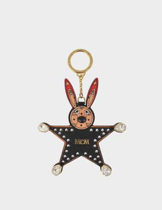 MCM Star Rabbit Swarovski Keyring