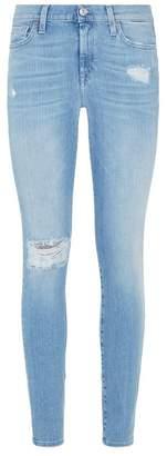 7 For All Mankind Embellished Slim Illusion Skinny Jeans