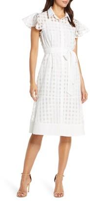 Julia Jordan Ruffle Sleeve Shirtdress