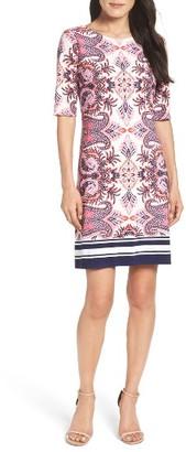 Women's Eliza J Print Shift Dress $118 thestylecure.com