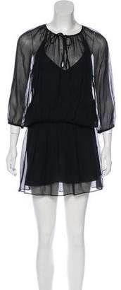 Mason Silk Short Sleeve Mini Dress