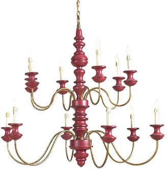 Chelsea House Stockholm 12-Light Chandelier - Red