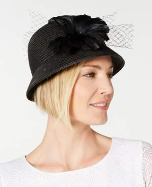 f51ace5faec46b Cloche August Hats Feather Flower & Netting Cloche, Created for Macy's