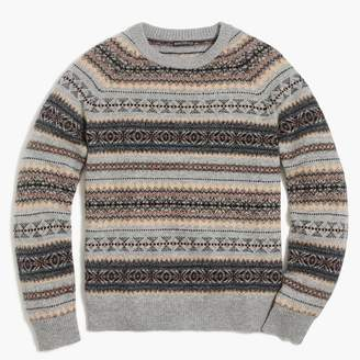 J.Crew Factory Fair isle crewneck sweater in supersoft wool blend