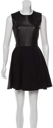Diane von Furstenberg Jeannie Two Leather-Accented Dress