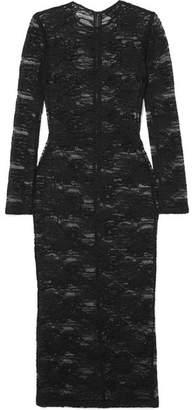 Dolce & Gabbana Stretch-lace Midi Dress - Black