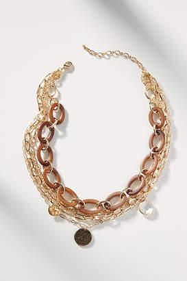 Anthropologie Phoebe Chain Bib Necklace